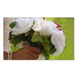 Wedding Bouquet Photo Rectangle Sticker