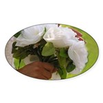 Wedding Bouquet Photo Oval Sticker