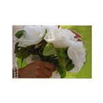 Wedding Bouquet Photo Rectangle Magnet (100 pack)