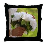 Wedding Bouquet Photo Throw Pillow