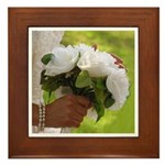 Wedding Bouquet Photo Framed Tile