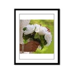 Wedding Bouquet Photo Framed Panel Print