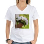 Wedding Bouquet Photo Women's V-Neck T-Shirt