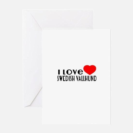 I Love Swedish Vallhund Greeting Card