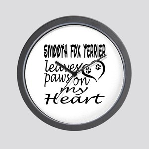 Smooth Fox Terrier Leaves Paws on My He Wall Clock