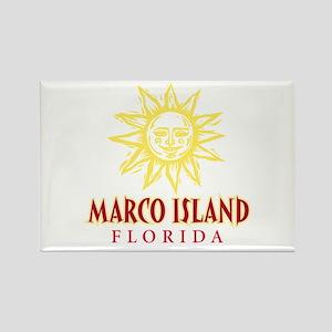 Marco Island Sun - Rectangle Magnet