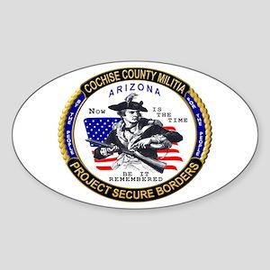 Cochise County Militia Oval Sticker