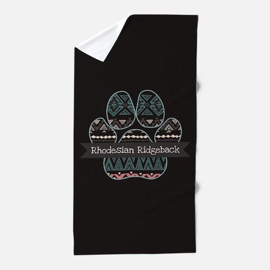 Rhodesian Ridgeback Beach Towel