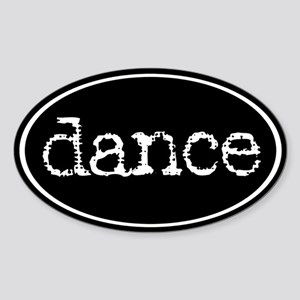 Dance Oval Sticker