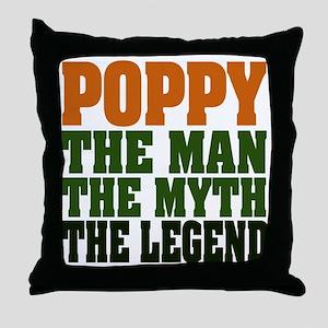 Poppy - The Legend Throw Pillow