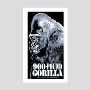 900 Pound Gorilla Rectangle Sticker