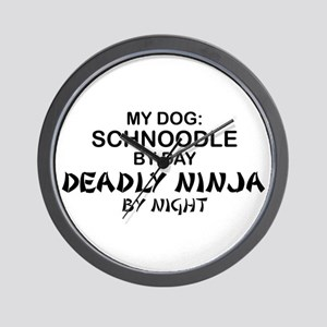 Schnoodle Deadly Ninja Wall Clock