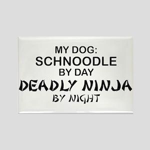 Schnoodle Deadly Ninja Rectangle Magnet