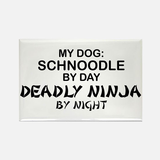 Schnoodle Deadly Ninja Rectangle Magnet