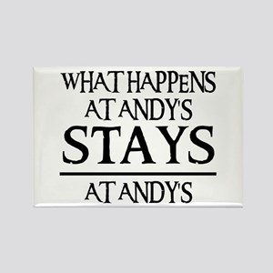 STAYS AT ANDY'S Rectangle Magnet