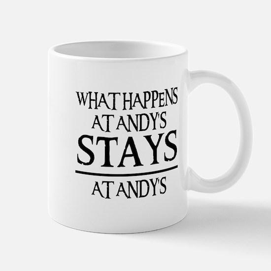 STAYS AT ANDY'S Mug