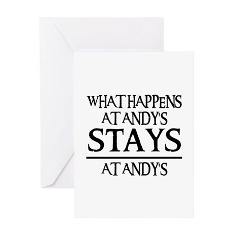 STAYS AT ANDY'S Greeting Card