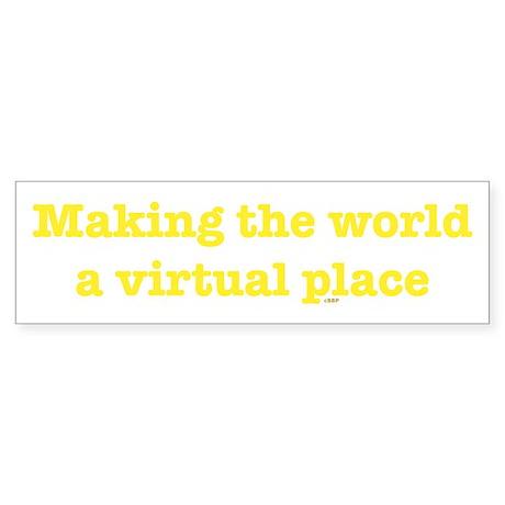 Virtual World Bumper Sticker