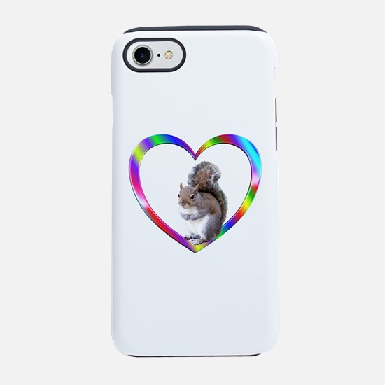 Squirrel In Colorful Heart iPhone 8/7 Tough Case