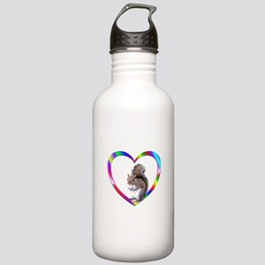 Squirrel In Colorful H Stainless Water Bottle 1.0L