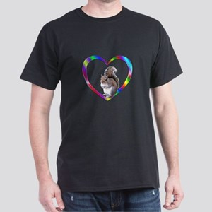 Squirrel In Colorful Heart Dark T-Shirt