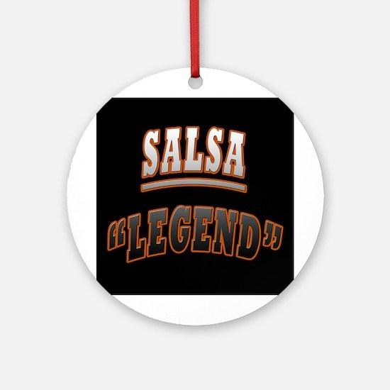 Salsa Legend Ornament (Round)