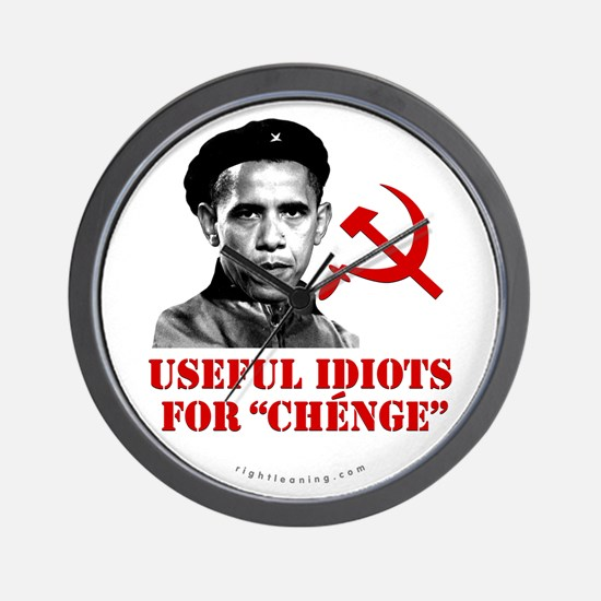 Ché Obama Useful Idiots Wall Clock