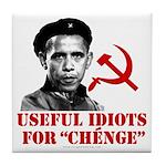 Ché Obama Useful Idiots Tile Coaster