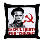 Ché Obama Useful Idiots Throw Pillow