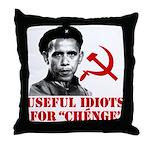 Ché Obama Useful Idiots Throw Pillow