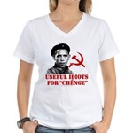 Ché Obama Useful Idiots Women's V-Neck T-Shirt