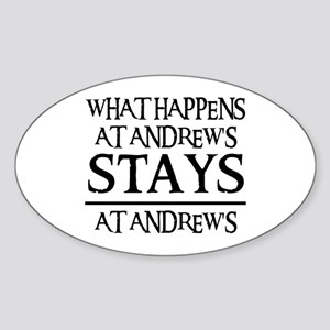 STAYS AT ANDREW'S Oval Sticker