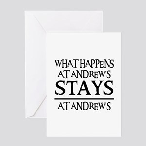 STAYS AT ANDREW'S Greeting Card