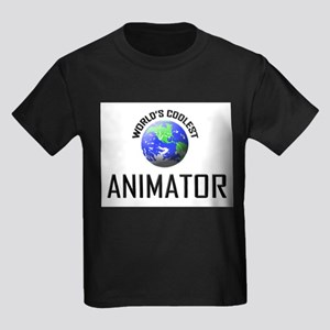World's Coolest ANIMATOR Kids Dark T-Shirt