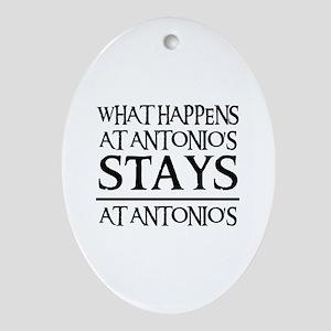 STAYS AT ANTONIO'S Oval Ornament