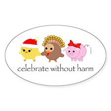 Celebrate Without Harm Oval Sticker
