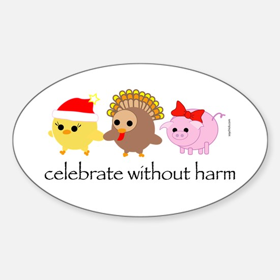 Celebrate Without Harm Oval Decal