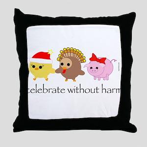 Celebrate Without Harm Throw Pillow