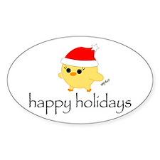 Soychick Holiday Oval Sticker