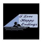 I Love Happy Endings Tile Coaster