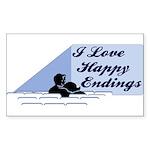 I Love Happy Endings Rectangle Sticker