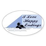 I Love Happy Endings Oval Sticker