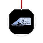 I Love Happy Endings Ornament (Round)