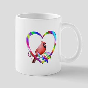 Northern Cardinal In Colorful He 11 oz Ceramic Mug