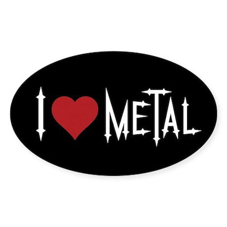 I Love Metal Sticker