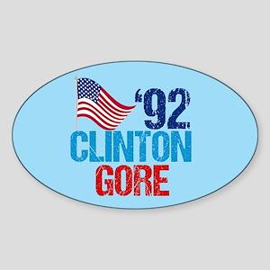 Clinton Gore Sticker (Oval)