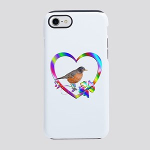 Robin In Colorful Heart iPhone 8/7 Tough Case