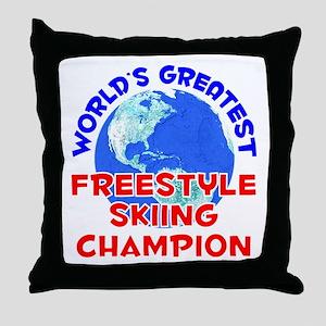 World's Greatest Frees.. (E) Throw Pillow