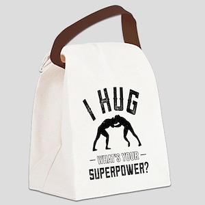 Wrestling How I Hug Canvas Lunch Bag