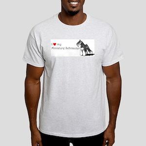 Love My Mini-Schnauzer Ash Grey T-Shirt